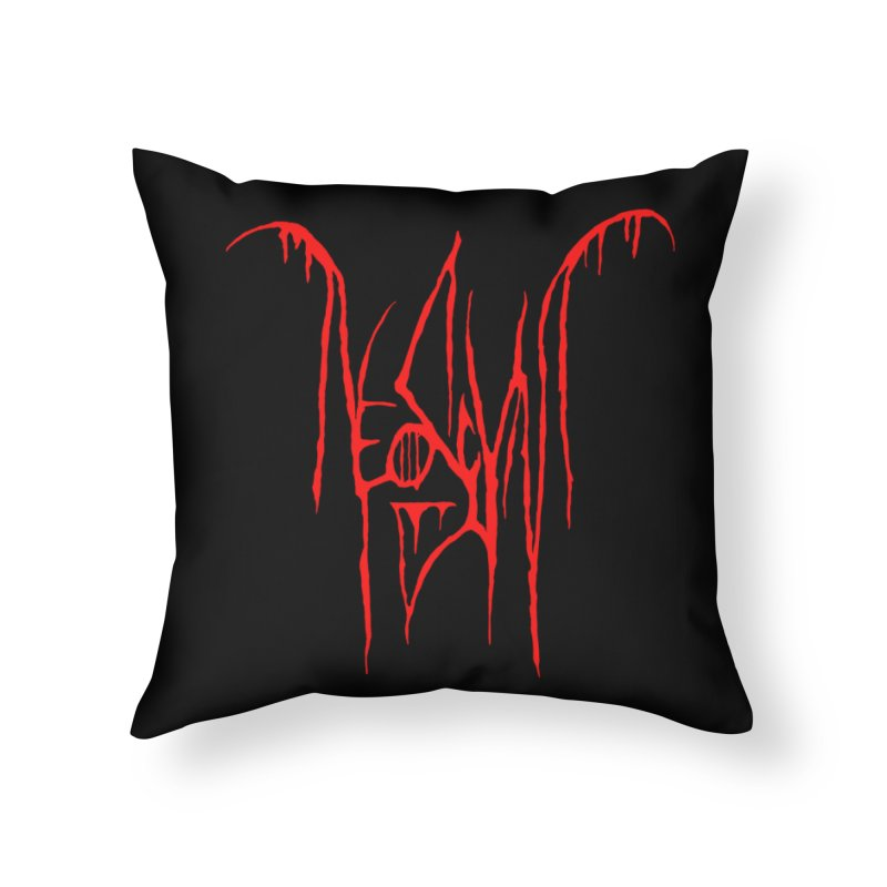 NeoScum Metal (Blood) Home Throw Pillow by NeoScum Shop