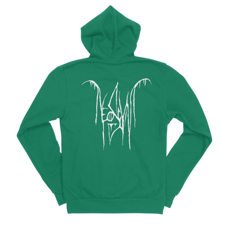 NeoScum Metal (Bone) Men's Sponge Fleece Zip-Up Hoody by NeoScum Shop