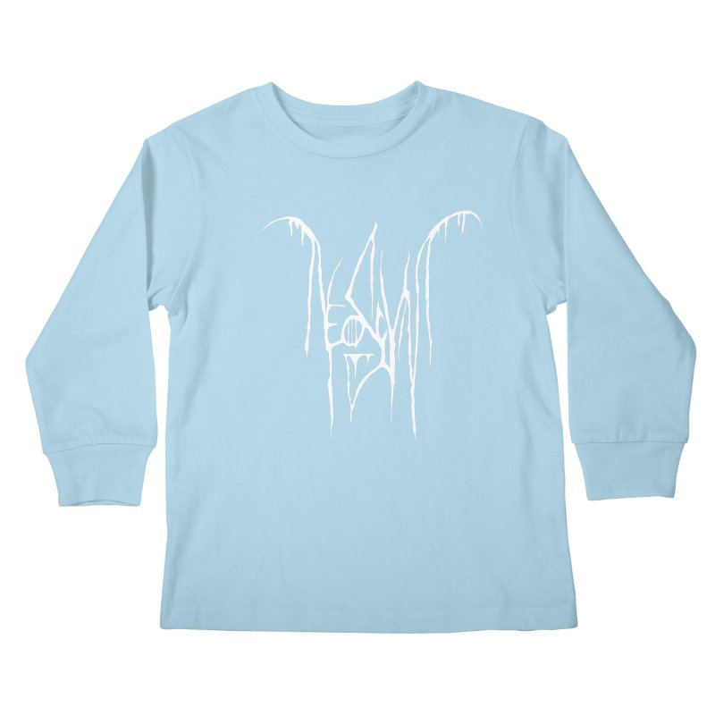NeoScum Metal (Bone) Kids Longsleeve T-Shirt by NeoScum Shop