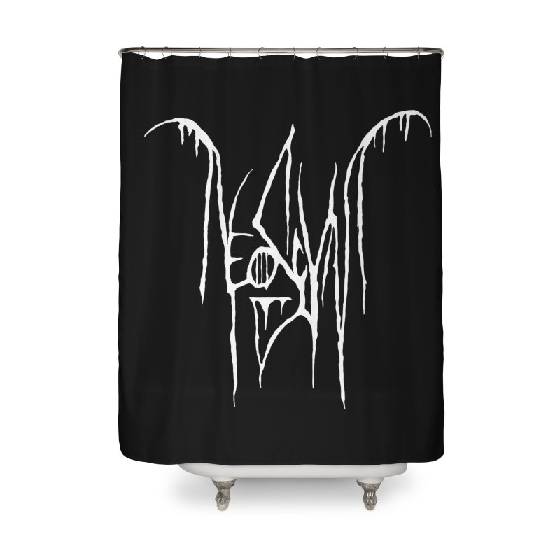 NeoScum Metal (Bone) Home Shower Curtain by NeoScum Shop