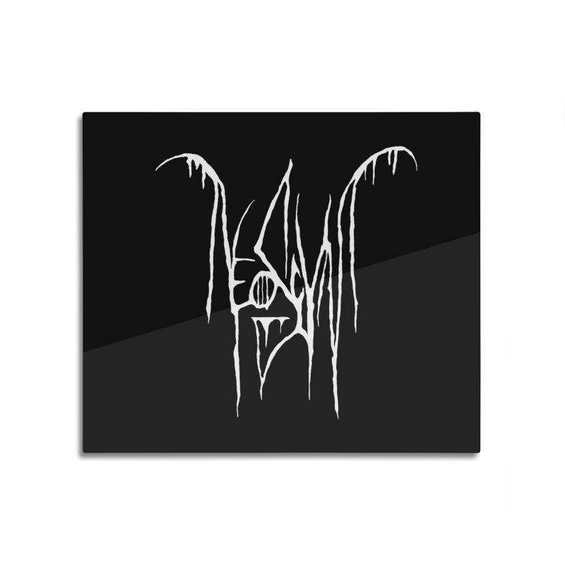 NeoScum Metal (Bone) Home Mounted Aluminum Print by NeoScum Shop
