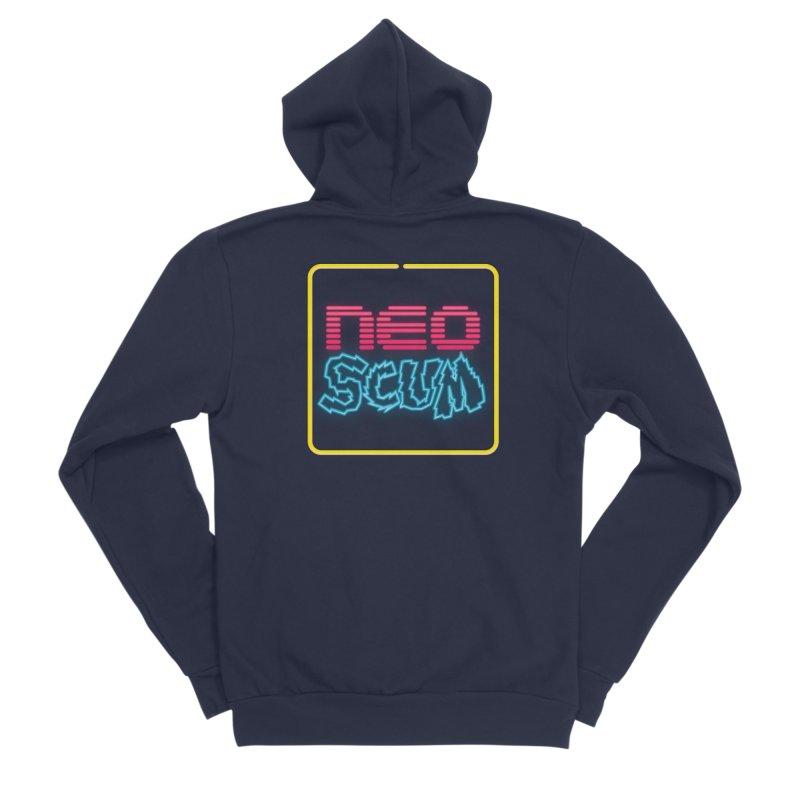 NeoScum OG Logo Men's Sponge Fleece Zip-Up Hoody by NeoScum Shop