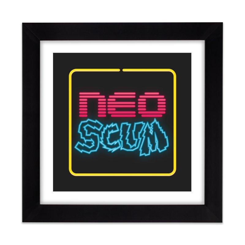 NeoScum OG Logo Home Framed Fine Art Print by NeoScum Shop