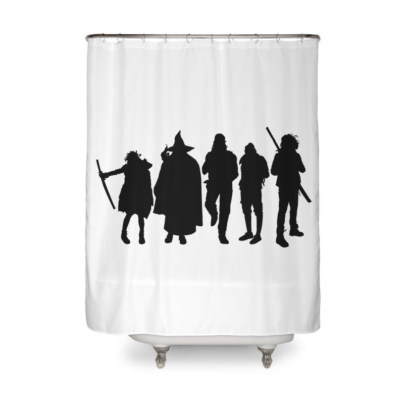 NeoScum Shadows Home Shower Curtain by NeoScum Shop