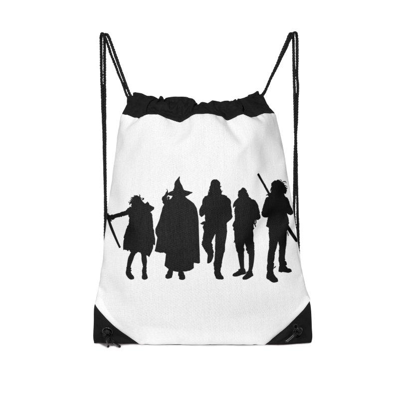 NeoScum Shadows Accessories Drawstring Bag Bag by NeoScum Shop