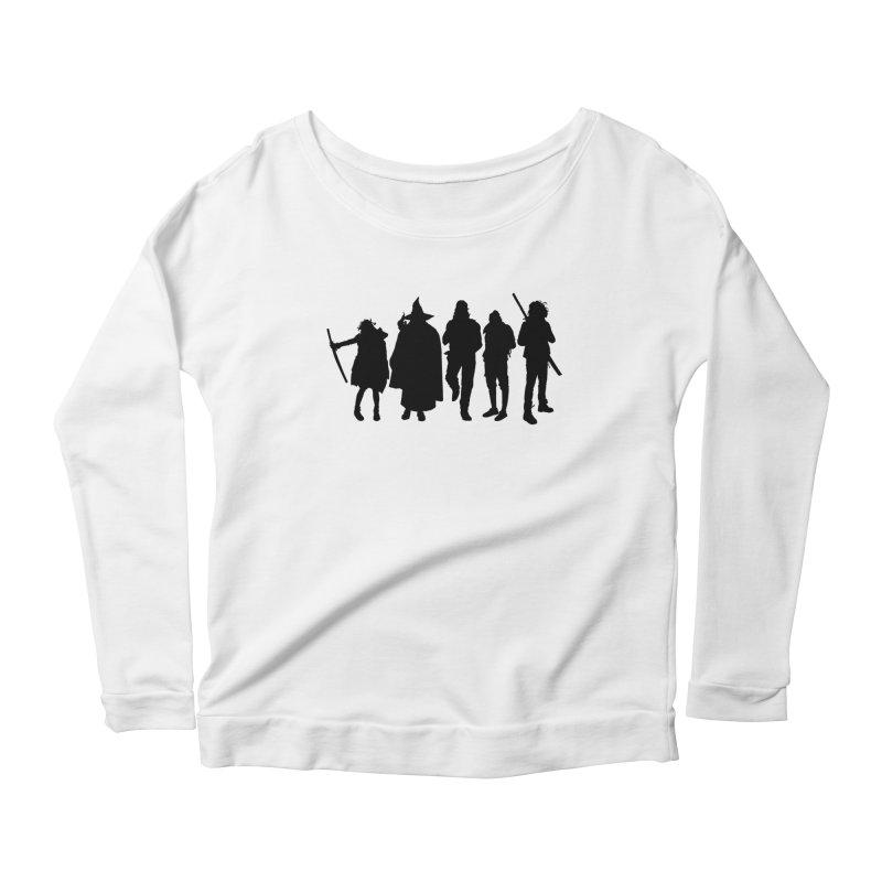 NeoScum Shadows Women's Scoop Neck Longsleeve T-Shirt by NeoScum Shop