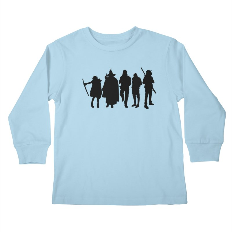 NeoScum Shadows Kids Longsleeve T-Shirt by NeoScum Shop