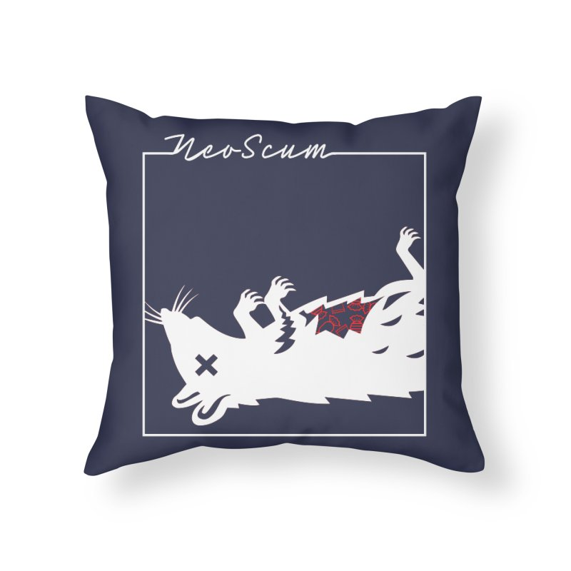 ratcandy (White) Home Throw Pillow by NeoScum Shop