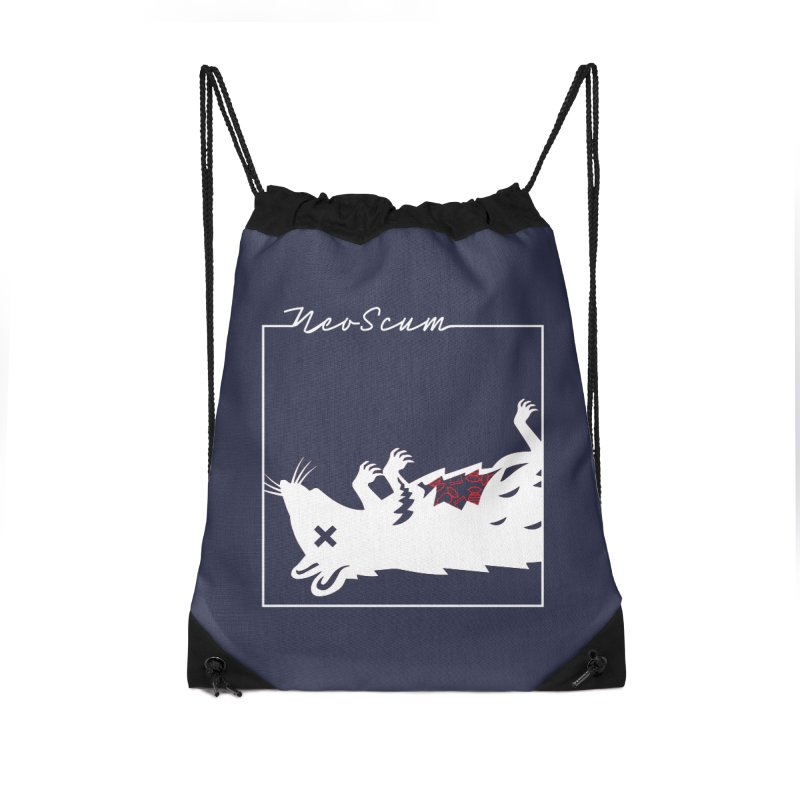 ratcandy (White) Accessories Drawstring Bag Bag by NeoScum Shop