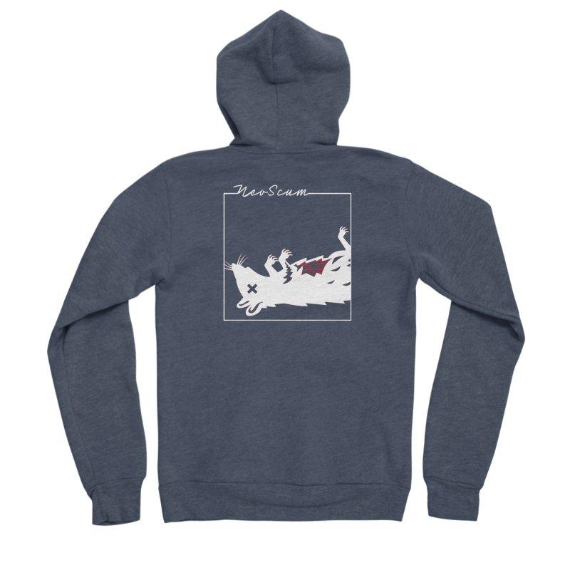 ratcandy (White) Men's Sponge Fleece Zip-Up Hoody by NeoScum Shop