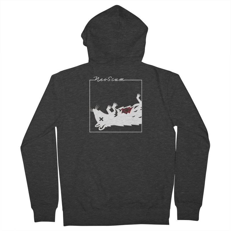 ratcandy (White) Men's French Terry Zip-Up Hoody by NeoScum Shop