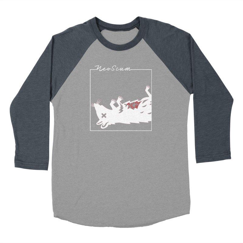 ratcandy (White) Women's Baseball Triblend Longsleeve T-Shirt by NeoScum Shop