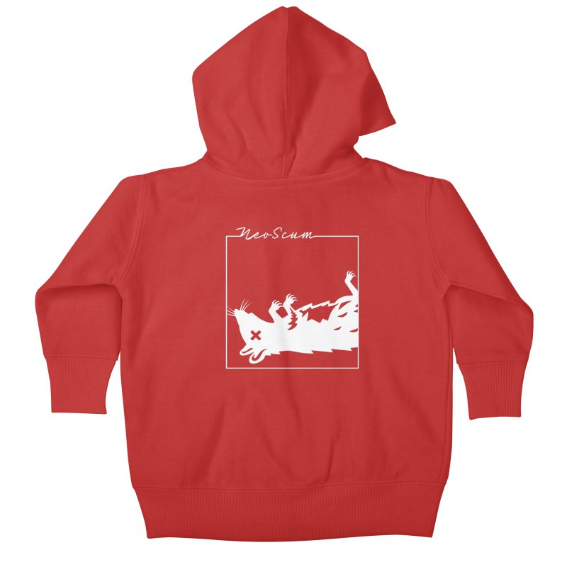 ratcandy (White) Kids Baby Zip-Up Hoody by NeoScum Shop