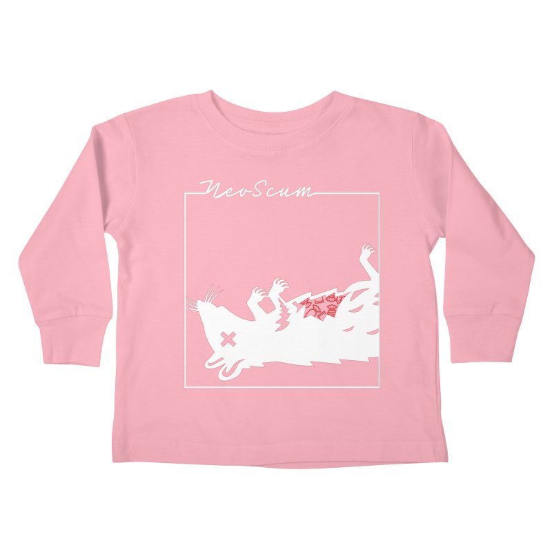 ratcandy (White) Kids Toddler Longsleeve T-Shirt by NeoScum Shop