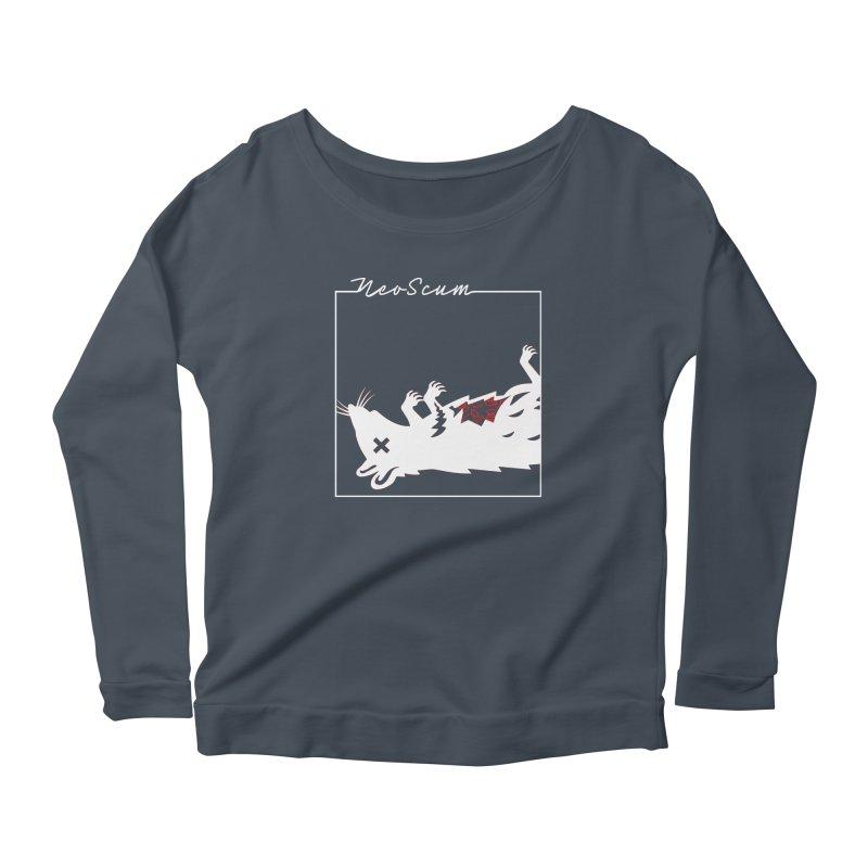 ratcandy (White) Women's Scoop Neck Longsleeve T-Shirt by NeoScum Shop