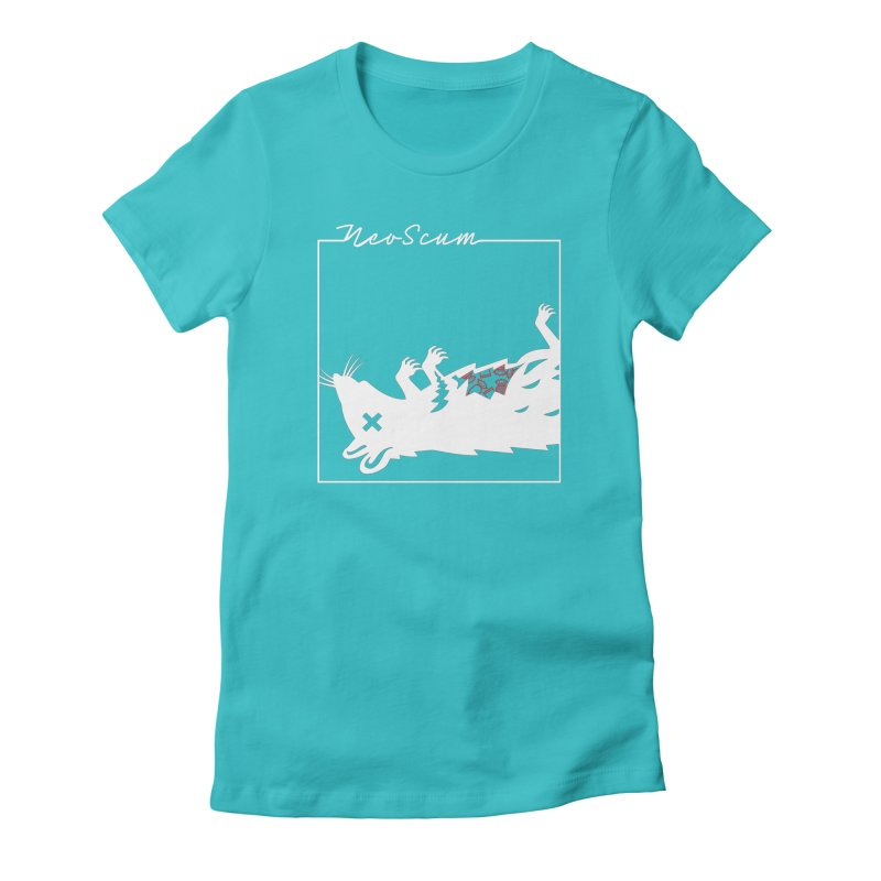 ratcandy (White) Women's Fitted T-Shirt by NeoScum Shop