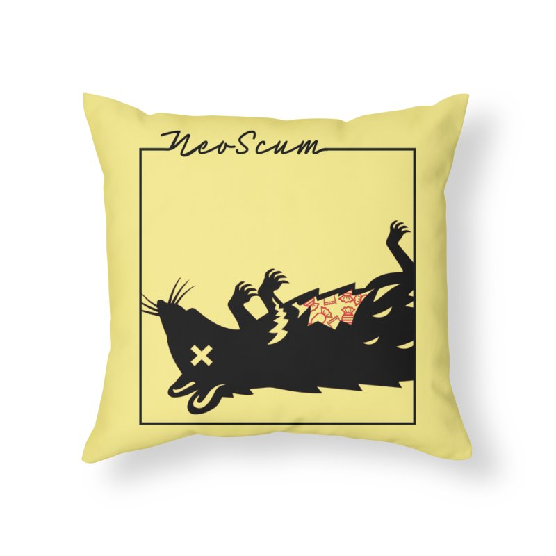 ratcandy (Black) Home Throw Pillow by NeoScum Shop
