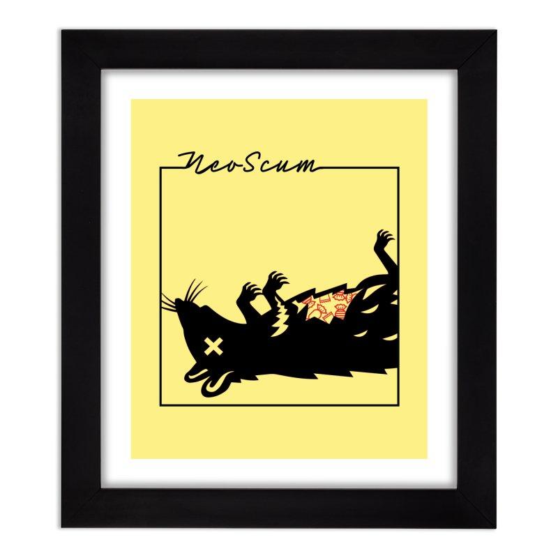 ratcandy (Black) Home Framed Fine Art Print by NeoScum Shop