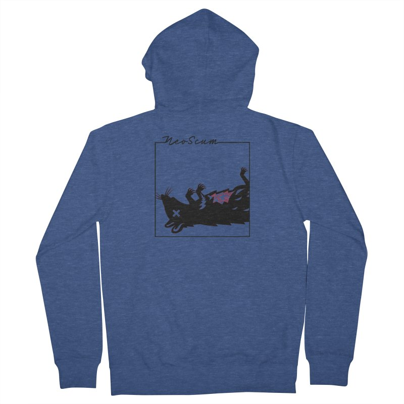 ratcandy (Black) Men's French Terry Zip-Up Hoody by NeoScum Shop