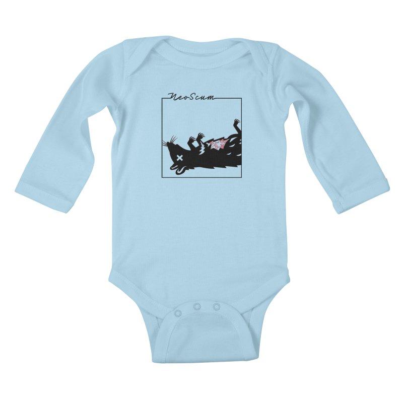 ratcandy (Black) Kids Baby Longsleeve Bodysuit by NeoScum Shop