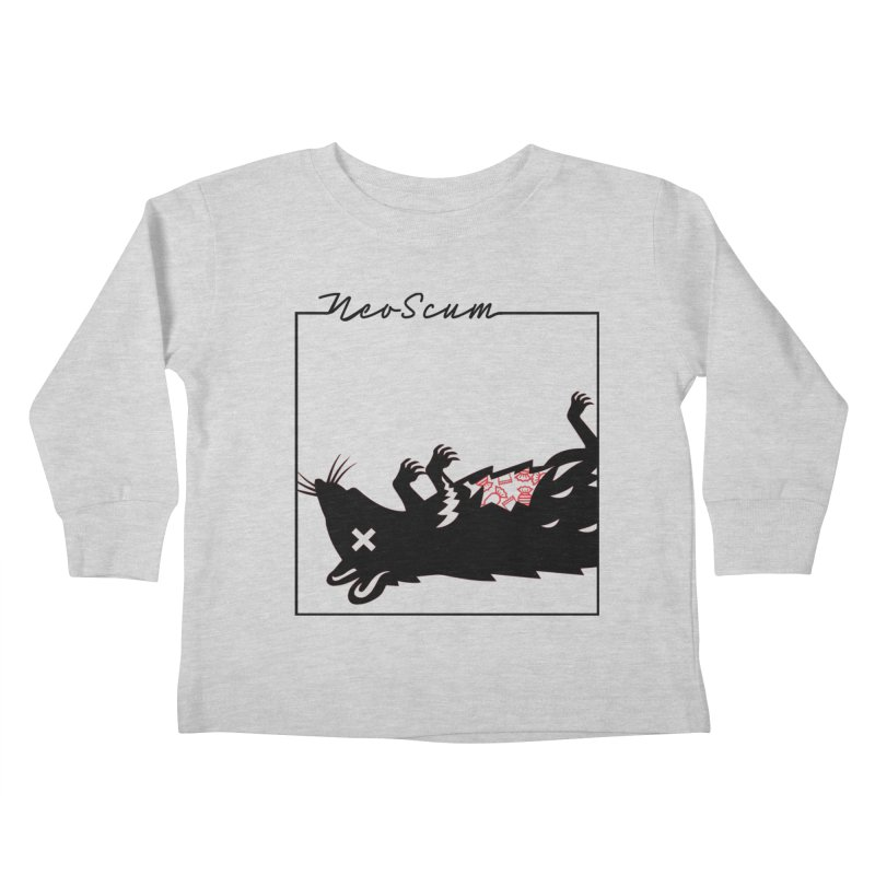 ratcandy (Black) Kids Toddler Longsleeve T-Shirt by NeoScum Shop