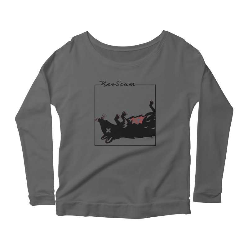 ratcandy (Black) Women's Scoop Neck Longsleeve T-Shirt by NeoScum Shop