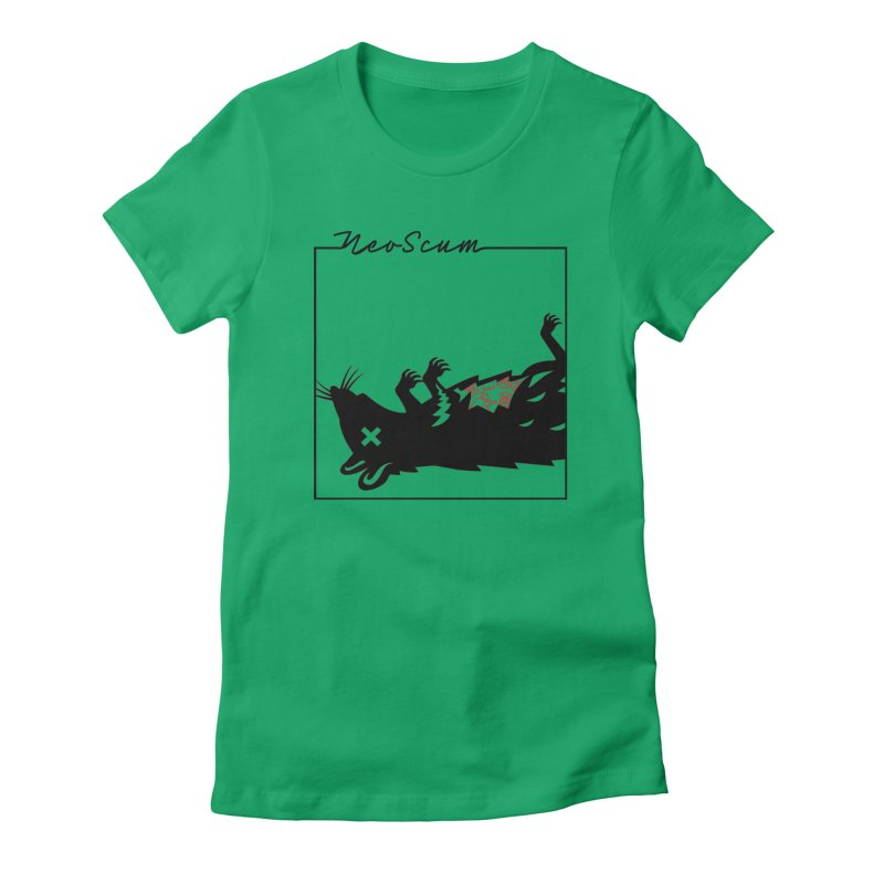 ratcandy (Black) Women's Fitted T-Shirt by NeoScum Shop