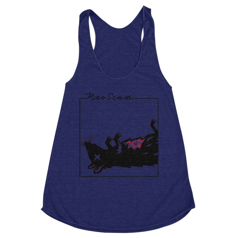 ratcandy (Black) Women's Racerback Triblend Tank by NeoScum Shop