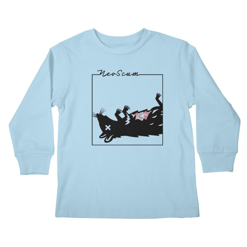 ratcandy (Black) Kids Longsleeve T-Shirt by NeoScum Shop