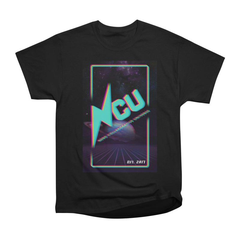 Retro NCU Poster Women's Heavyweight Unisex T-Shirt by The Nerd Collaborative Universe