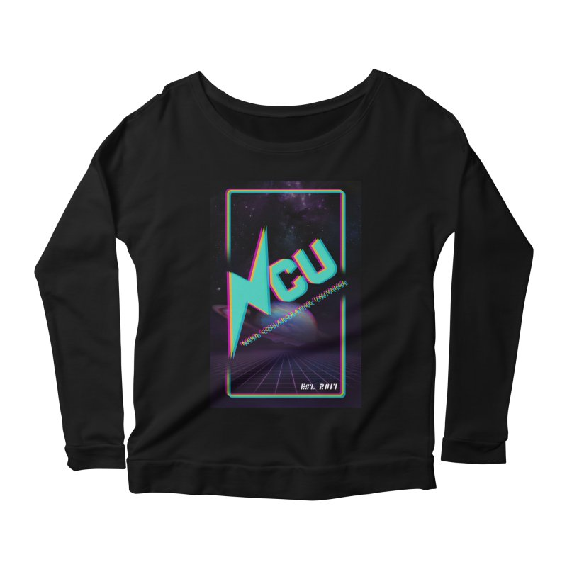 Retro NCU Poster Women's Scoop Neck Longsleeve T-Shirt by The Nerd Collaborative Universe