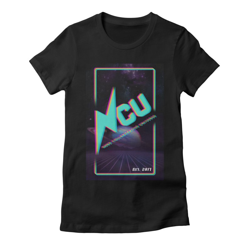 Retro NCU Poster Women's Fitted T-Shirt by The Nerd Collaborative Universe