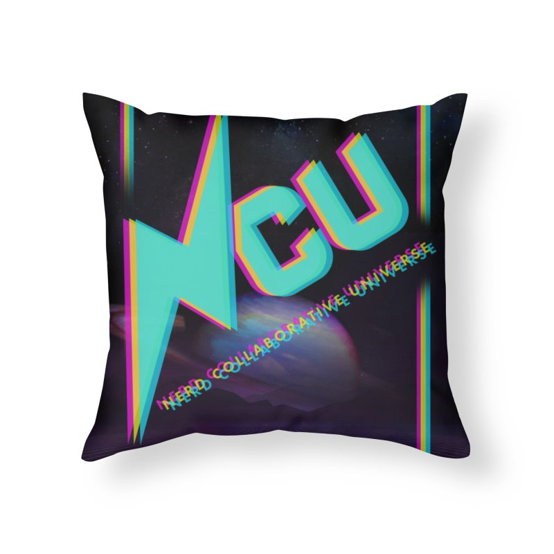 Retro NCU Poster Home Throw Pillow by The Nerd Collaborative Universe