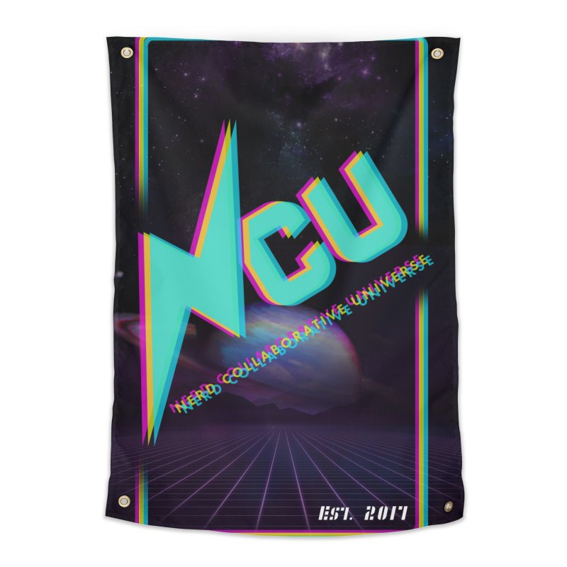 Retro NCU Poster Home Tapestry by The Nerd Collaborative Universe