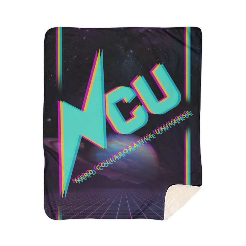 Retro NCU Poster Home Sherpa Blanket Blanket by The Nerd Collaborative Universe