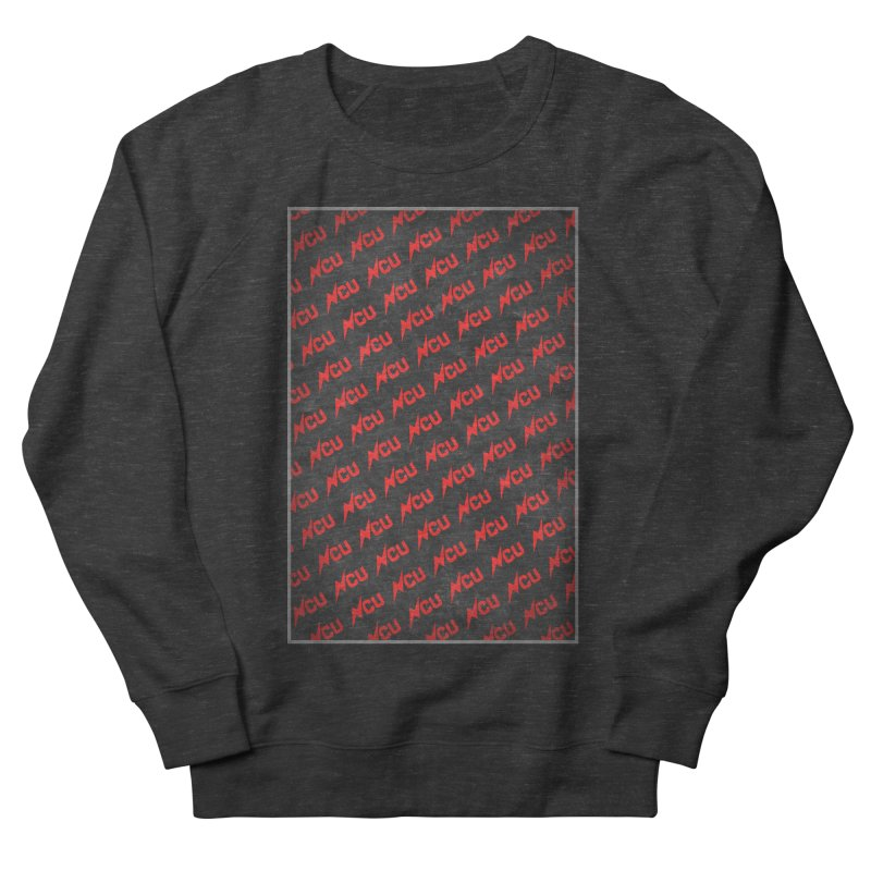 NCU Logo Repeating - Red Men's French Terry Sweatshirt by The Nerd Collaborative Universe