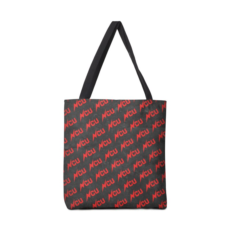 NCU Logo Repeating - Red Accessories Tote Bag Bag by The Nerd Collaborative Universe