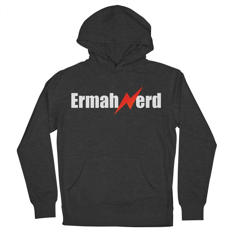 ERMAHNERD Men's French Terry Pullover Hoody by The Nerd Collaborative Universe