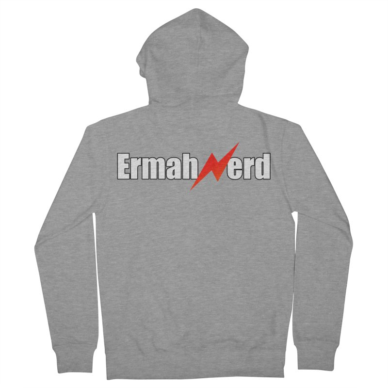 ERMAHNERD Men's French Terry Zip-Up Hoody by The Nerd Collaborative Universe