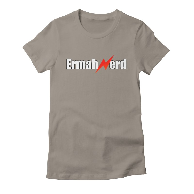 ERMAHNERD Women's Fitted T-Shirt by The Nerd Collaborative Universe