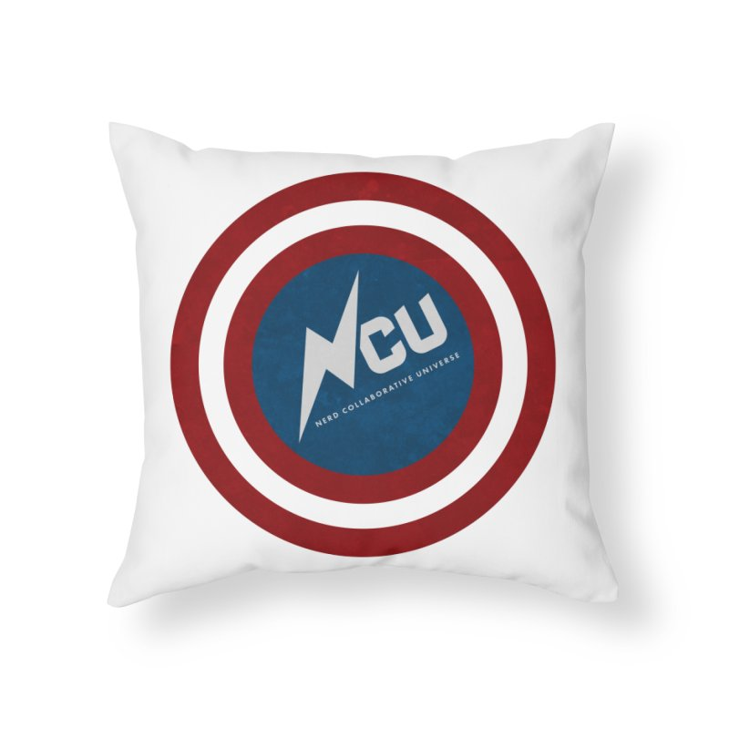 NCU Shield Home Throw Pillow by The Nerd Collaborative Universe