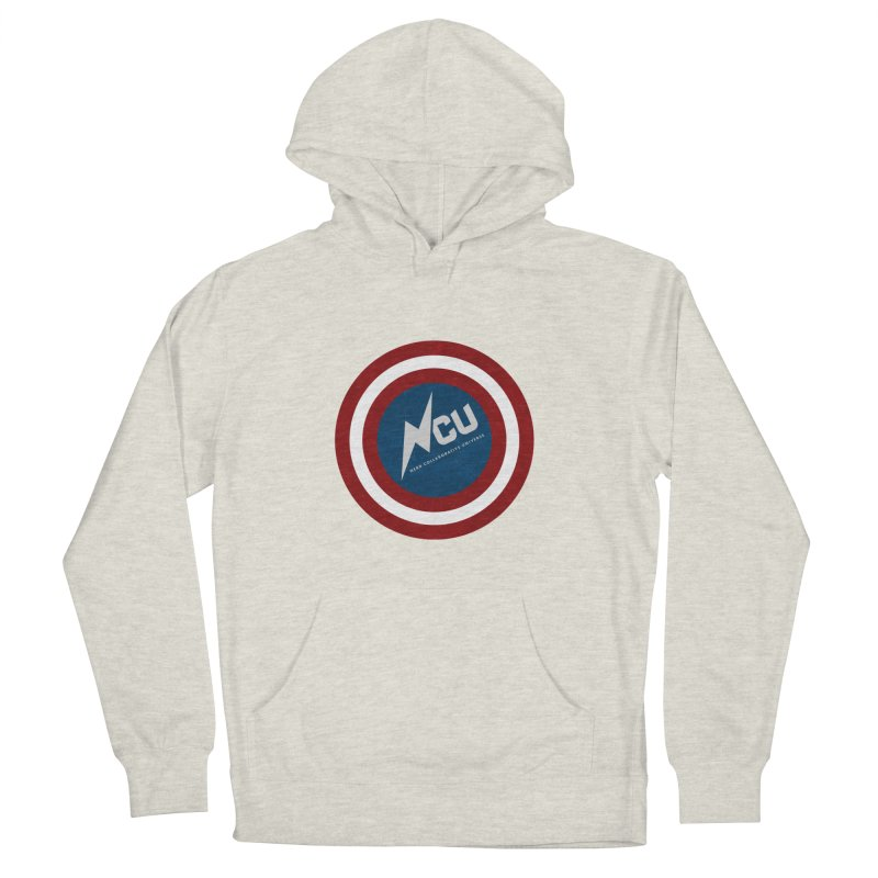 NCU Shield Men's French Terry Pullover Hoody by The Nerd Collaborative Universe