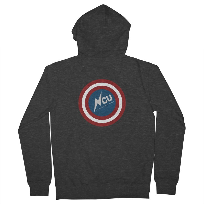 NCU Shield Men's French Terry Zip-Up Hoody by The Nerd Collaborative Universe
