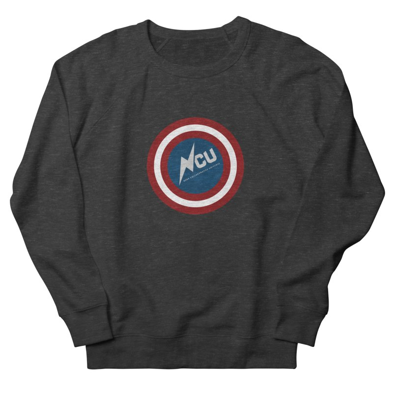 NCU Shield Men's French Terry Sweatshirt by The Nerd Collaborative Universe