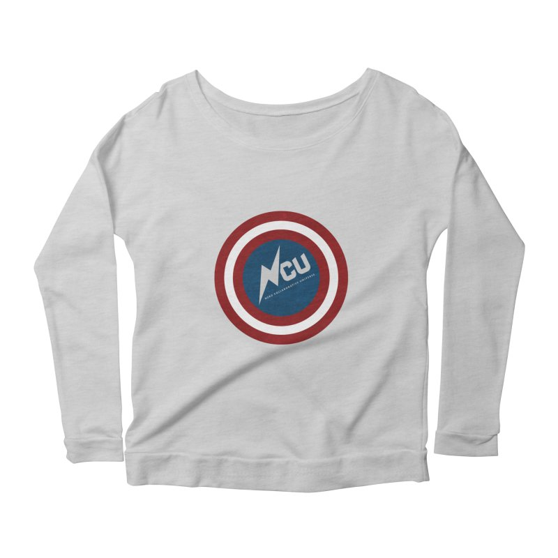 NCU Shield Women's Scoop Neck Longsleeve T-Shirt by The Nerd Collaborative Universe