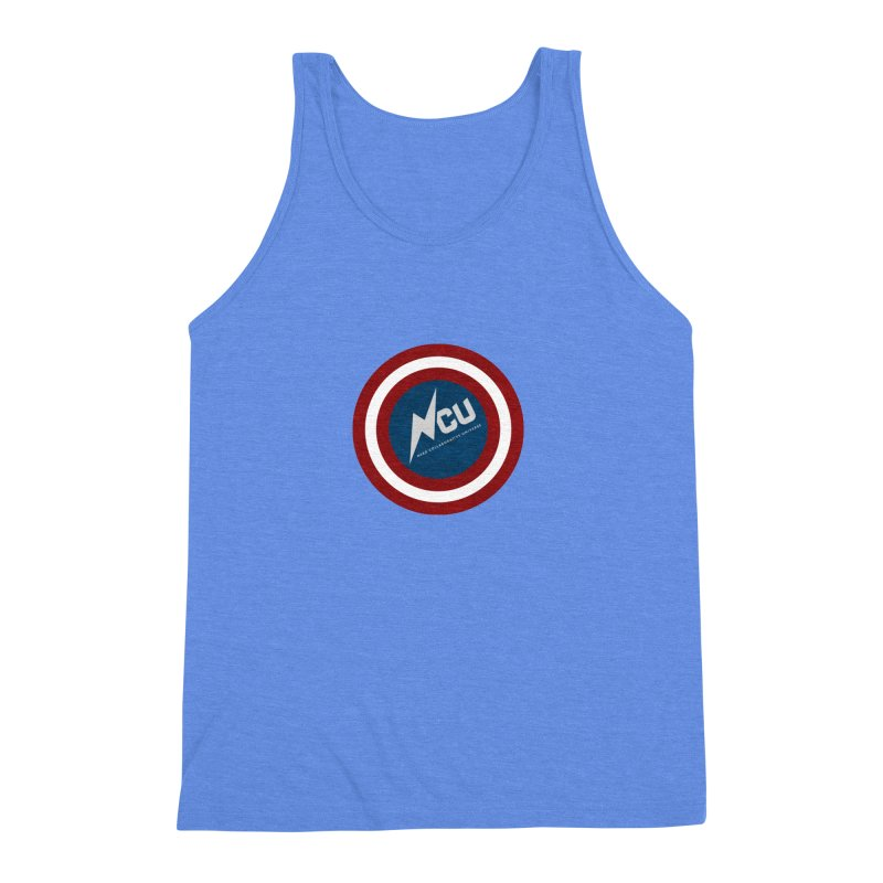 NCU Shield Men's Triblend Tank by The Nerd Collaborative Universe