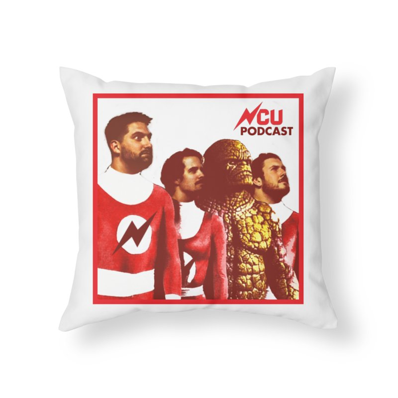 Podtastic 4 Home Throw Pillow by The Nerd Collaborative Universe