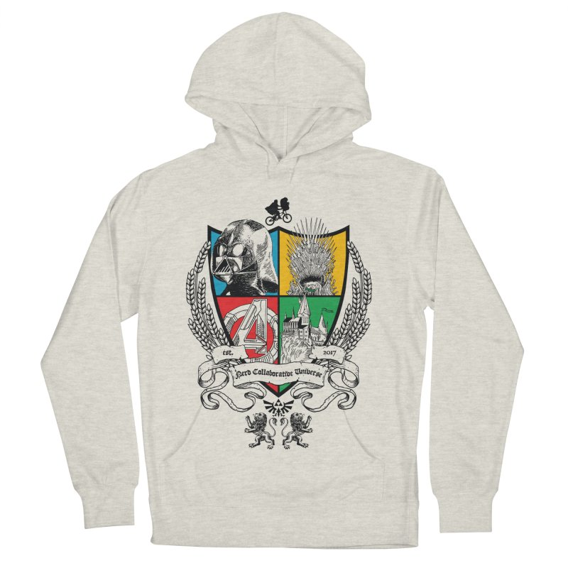 Nerd Crest Men's French Terry Pullover Hoody by The Nerd Collaborative Universe