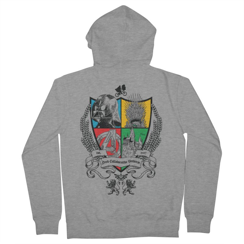 Nerd Crest Men's French Terry Zip-Up Hoody by The Nerd Collaborative Universe