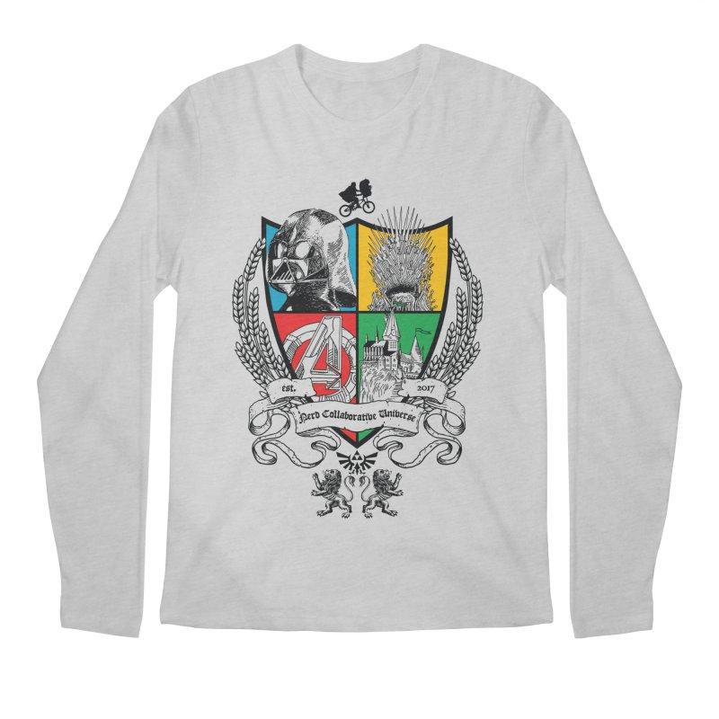 Nerd Crest Men's Regular Longsleeve T-Shirt by The Nerd Collaborative Universe